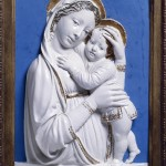 Luca della Robbia, Madonna col Bambino (Madonna genovese), 1445-1450, Detroit, Detroit Institute of Arts, City of Detroit Purchase - Detroit Institute of Arts, USA/City of Detroit Purchase/The Bridgeman Art Library