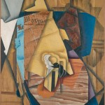 Juan Gris - Figure Seated in a Café (Man at a Table) (1914)