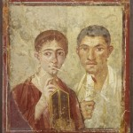 Wall painting of the baker Terentius Neo and his wife. Dalla Domus di Terentius Neo, Pompei, 50-79 d.C.. Copyright Soprintendenza Speciale per i Beni Archeologici di Napoli e Pompei / Trustees of the British Museum