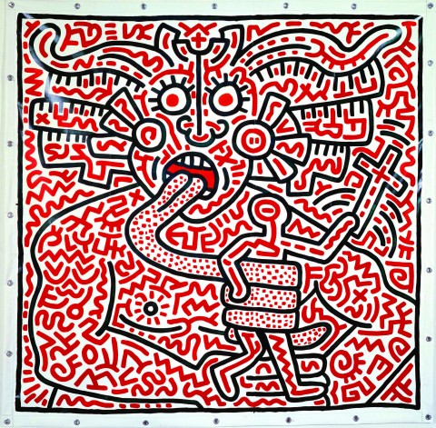 Keith Haring, Untitled, 25 agosto 1983 - coll. privata - courtesy Enrico Navarra, New York - © Keith Haring Foundation