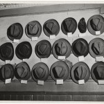 Weegee, Hats in a pool room, Mulberry Street, New York, 1943 ca.