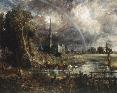 Salisbury Cathedral from the Meadows, di John Constable