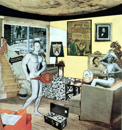 RiRichard Hamilton, Just what is it that makes today's homes so different, so appealing?, 1956, collage - This is Tomorrow, Londra
