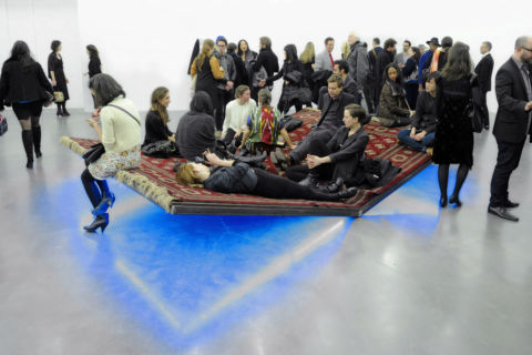 Slavs and Tatars, PrayWay - 2nd New Museum Triennial, New York. Photo courtesy of Patrick McMullan