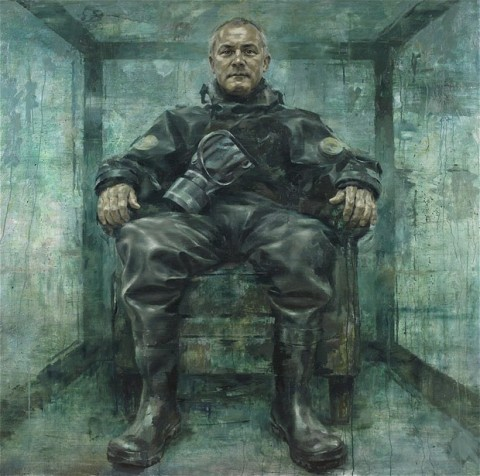 Il ritratto di Damien Hirst by Jonathan Yeo (foto National Portrait Gallery)