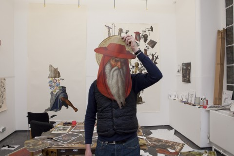 Michael Landy as St Jerome, 2012 -  © Michael Landy, courtesy of the Thomas Dane Gallery, London / Photo: The National Gallery, London