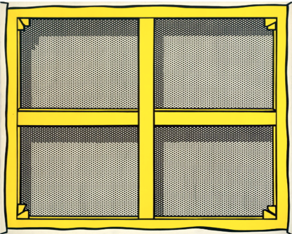Roy Lichtenstein, Stretcher Frame with Crossbars I, 1967 - collezione Cari Sacks