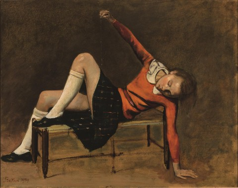 Balthus, Thérèse on a Bench Seat (1939)