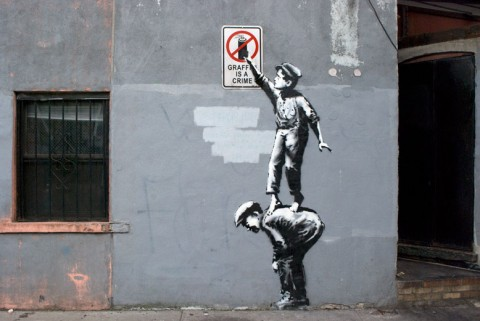 Banksy, The street is in play - prima