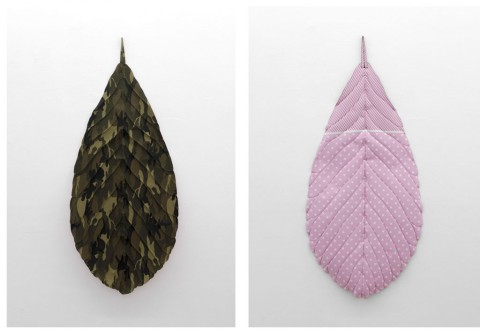 Real Naturally - Min Yoon, Leafes, Not yet Titeled, Mixed Media, 2013