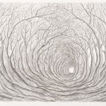 Stanley Donwood - Far Away is Close in Images of Elsewhere - veduta della mostra presso The Ousiders Gallery, Londra 2013
