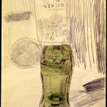 Andy Warhol - Cambell's Soup Can Over Coke Bottle - 1962 - Courtesy The Brant Foundation