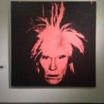 Andy Warhol - Self Portrait (red on black)- 1986 - Courtesy The Brant Foundation