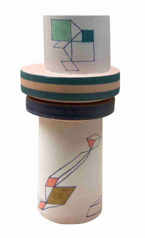 Achille Perilli, Distorto, 1997 - maiolica, 50 x 22 cm - courtesy AICA|Andrea Ingenito Contemporary Art