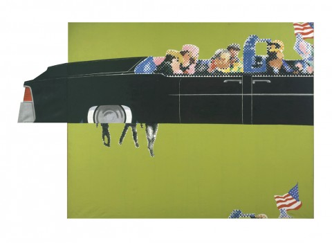 Gerald Laing, Lincoln Convertible, 1964, Courtesy Gerald Laing Estate ©ACS