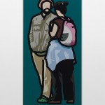 Julian Opie - Man with beret talking to woman with rucksack, 2013 - Valentina Bonomo Gallery - Roma, 2013
