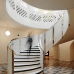 Central staircase from the lower rotunda, Tate Photography