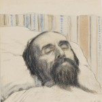 Ivan Vasilevich Klyun, Malevich on his Deathbed, 16 May, 1935 - Collection Stedelijk Museum Khardzhiev Chaga
