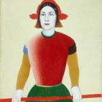 Kazimir Malevich, Girl with a Red Pole, 1932-1933 - Collection The State Tretyakov Gallery