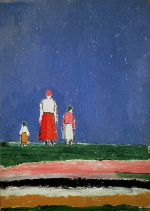 Kazimir Malevich, Three Figures, 1928 - Collection V. A. Dudakov