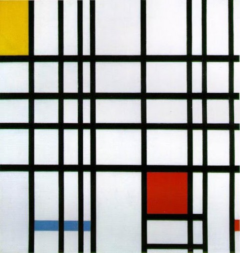 Piet Mondrian, Composition With Red, Yellow, & Blue, 1921