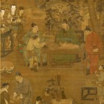 Unidentified artist (traditionally attributed to Ren Renfa), The Four Pleasures: Music, Chess, Calligraphy and Painting (particolare), inizio XV sec. - Tokyo National Museum, Japan - photo TNM Image Archives