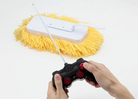 Remote radio control cleaning brush