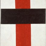 Kazimir Malevich, Hieratic Suprematist Cross (large cross in black over red on white), 1920-1921