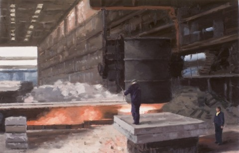 Serba Savu, The Foundry, 2009 - olio su tela