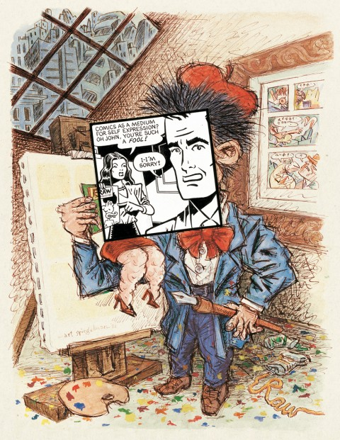 Art Spiegelman, cover art for Print magazine, May/June 1981, watercolor, ink, and collage on paper. Copyright © 1981 by Art Spiegelman. Used by permission of the artist and The Wylie Agency LLC.  Courtesy Drawn + Quarterly