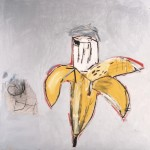 Jean-Michel Basquiat, Brown Spots (Portrait of Andy Warhol as a Banana), 1984 – Sammlung Bischofberger, Schweiz ©Foto: Galerie Bruno Bischofberger, Schweiz ©The Estate of Jean-Michel Basquiat ©VBK, Wien, 2013