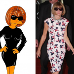 Anna Wintour Simpson Humor Chic by aleXsandro Palombo