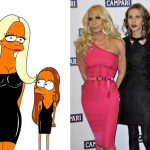 Donatella and Allegra Versace Simpson Humor Chic by aleXsandro Palombo