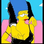 Homer and Marge Simpson Helmut Newton Erotic Iconic Shots Celebrate 25 years The Simpsons Calendar 2014 September Art Cartoon Satire Fashion Luxury Humor Chic by aleXsandro Palombo