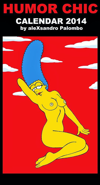 Humor Chic Calendar 2014 - Marge and Homer Simpson - by aleXsandro Palombo