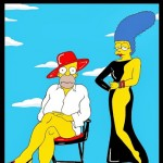 Humor Chic Homer Simpson and Marge Iconic Cover Calendar 2014 Marge and Homer Simpson THE SIMPSONS ART FASHION LUXURY  Cartoon Satire Parody by aleXsandro Palombo