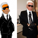 Karl Lagerfeld Simpson  Humor Chic by aleXsandro Palombo