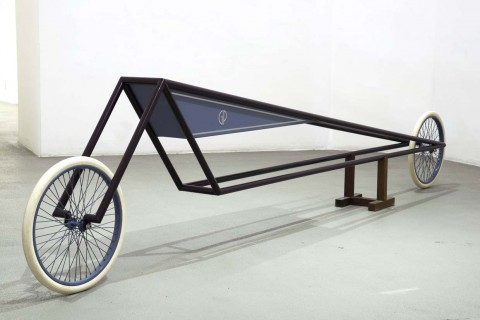 Gianni Piacentino, Dark Amaranth Frame Vehicle with Blue-GrayTrinagle Tank, 1971-1972