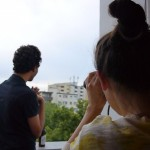 Roof top performance by Mia May in collaboration with Kathrin Oberrauch - Shipwreck With Spectator, giugno 2013
