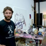 Ben Quilty, overall winner dei Prudential Eye Awards, nel suo studio in Australia - photo Andre Deborde - courtesy the artist and Prudential Eye Awards