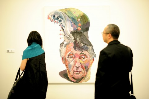 Prudential Eye Awards for Contemporary Asian Art 2014 - Ben Quilty, Dad with peacock feather hair, 2013