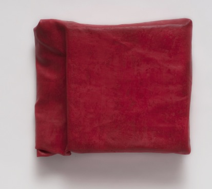 Steve Riedell, Folded-Over Painting (Red/#3), 2012