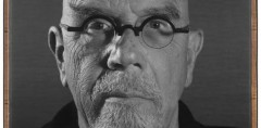 Chuck Close, portrait for Aol