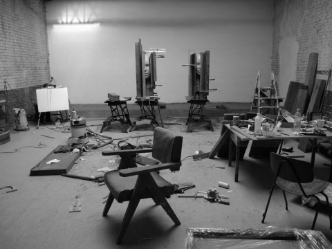 Lo studio di Mark Manders a Ronse (Belgio) - courtesy the artist & Tanya Bonakdar Gallery, New York & Zeno X Gallery, Antwerp
