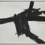 Franz Kline, Buttress, 1956 - Olio su tela, 117,48 x 141,61 cm - Los Angeles, The Museum of Contemporary Art, The Panza Collection - photo Brian Forrest