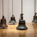 Giovanni Ozzola, Printemps France II, 2013 - 4 bells with handwritten texts - variable dimensions Courtesy the artist and Galleria Continua – foto Eric Gregory Powel