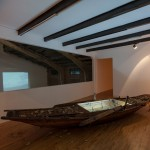 Rising Every Time We Fall, 2013 - wooden boat, neon, 68 x 560 x 126 cm Courtesy the artist and Galleria Continua – foto Eric Gregory Powell
