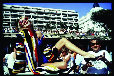 Jerry Hall and Helmut Newton, Cannes by David Bailey, 1983 © David Bailey