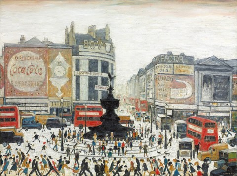L.S. Lowry - Piccadilly Circus