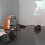 Johanna Viprey, Bear Dream (with Rabbit), 2013 - performance all'Istituto Svizzero di Roma, Milano 2014 - photo Emanuele Biondi